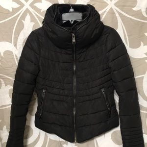 Zara Quilted Fuad Fur Collar